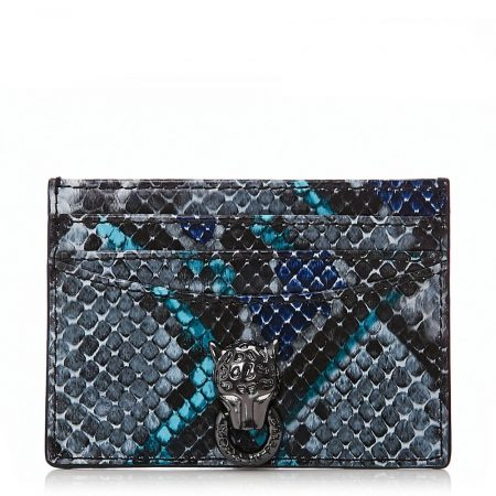 Evening And Clutch Bags | Moda in Pelle Womens Kirawallet Blue – Snake Leather Blue