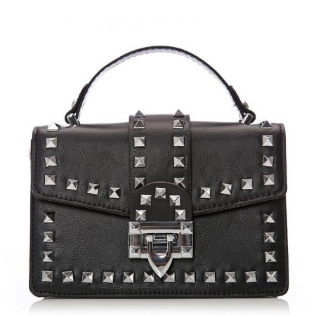 Evening And Clutch Bags | Moda in Pelle Womens Lasaribag Black Porvair Black