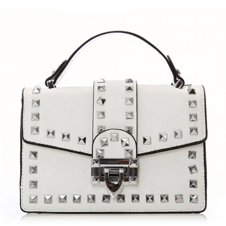 Evening And Clutch Bags | Moda in Pelle Womens Lasaribag White Porvair White
