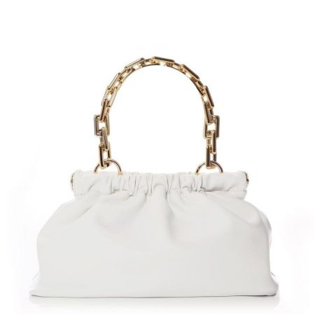 Evening And Clutch Bags | Moda in Pelle Womens Litzibag White Porvair White