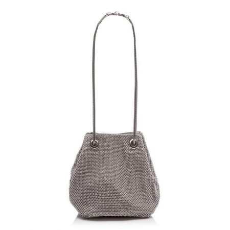 Evening And Clutch Bags | Moda in Pelle Womens Merelzibag Silver Textile Silver