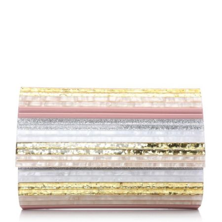 Evening And Clutch Bags | Moda in Pelle Womens Seapearlclutch White-Nude Pearl White-Nude