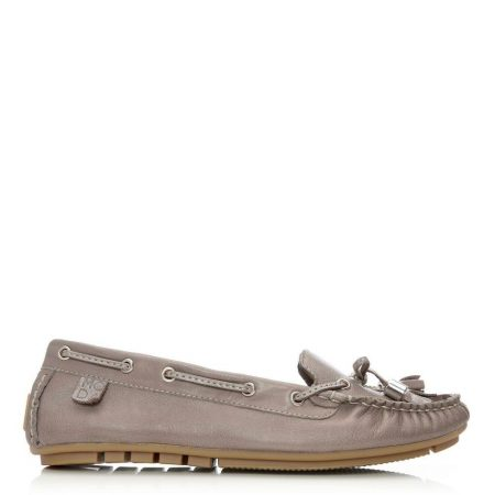 Flat And Ballerina Shoes | Moda in Pelle Womens Amusement Taupe Leather Taupe
