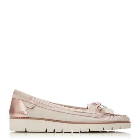 Flat And Ballerina Shoes | Moda in Pelle Womens Axella Nude Leather Nude