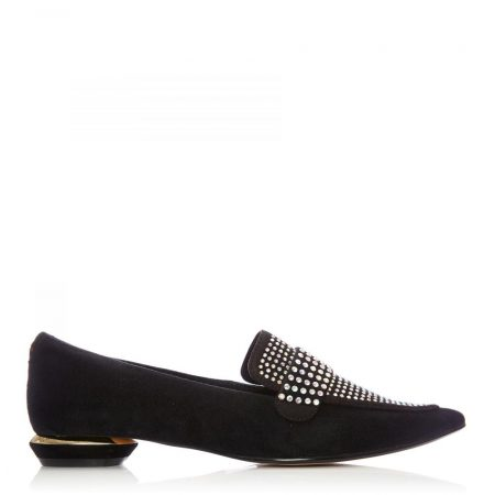 Flat And Ballerina Shoes | Moda in Pelle Womens Estabenna Black Ab Suede Black
