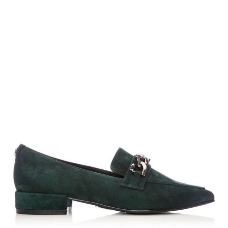 Flat And Ballerina Shoes | Moda in Pelle Womens Fliss Green Suede Green