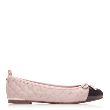 Flat And Ballerina Shoes | Moda in Pelle Womens Follo Nude Leather Nude