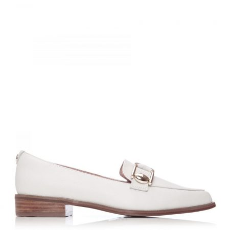 Flat And Ballerina Shoes | Moda in Pelle Womens Forilia Off White Leather Off