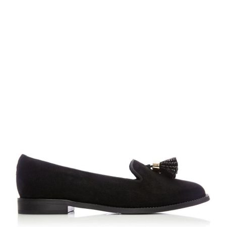 Flat And Ballerina Shoes | Moda in Pelle Womens Welonia Black Suede Black