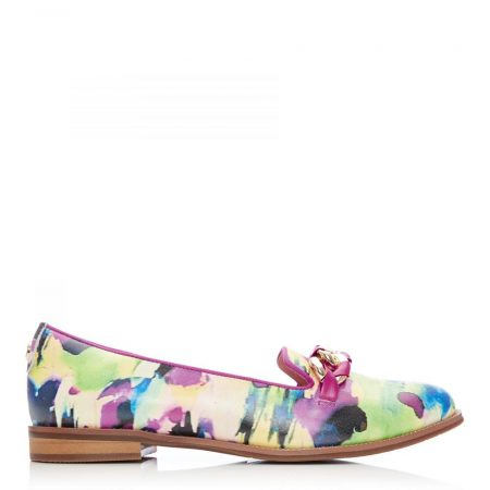 Flat And Ballerina Shoes | Moda in Pelle Womens Welony Multi Leather Multi