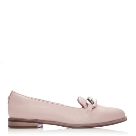 Flat And Ballerina Shoes | Moda in Pelle Womens Welony Nude Leather Nude