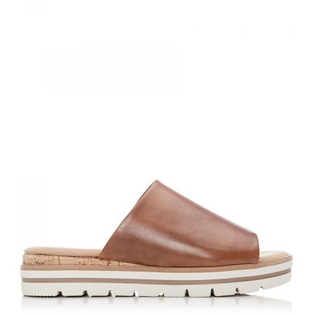 Flat Sandals | Moda in Pelle Womens G Academy Tan Leather Academy