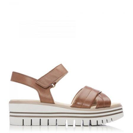 Flat Sandals | Moda in Pelle Womens G Brom Camel Leather Brom