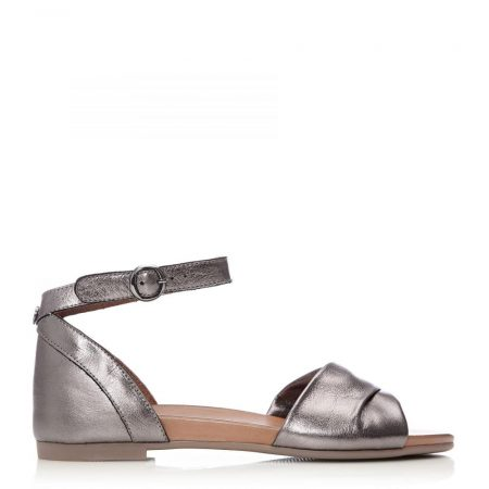 Flat Sandals | Moda in Pelle Womens Navella Pewter Leather Pewter