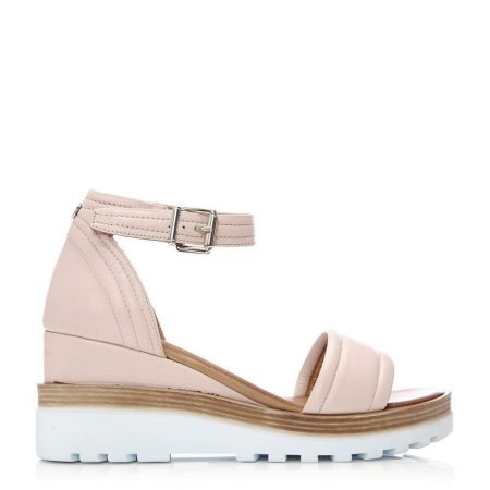 Flat Sandals | Moda in Pelle Womens Picante Nude Leather Nude