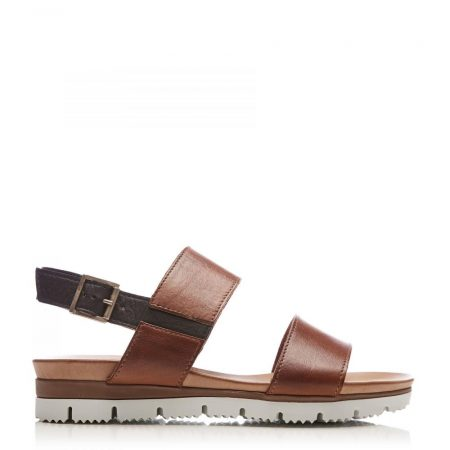 Flat Sandals | Moda in Pelle Womens Sh Icon Tan Leather Icon