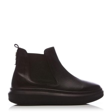 Heeled And Wedge Boots | Moda in Pelle Womens Binkie Black Leather Black