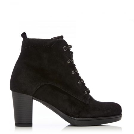 Heeled And Wedge Boots | Moda in Pelle Womens G Woody Black Suede Woody