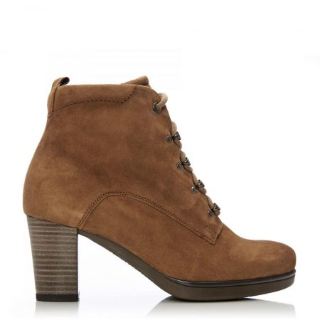 Heeled And Wedge Boots | Moda in Pelle Womens G Woody Tan Suede Woody