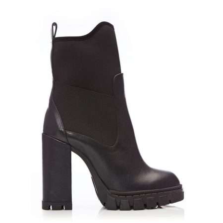 Heeled And Wedge Boots | Moda in Pelle Womens Kellis Black Leather Black