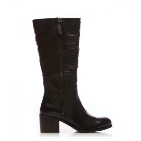 Heeled And Wedge Boots | Moda in Pelle Womens Lilicia Black Leather Black