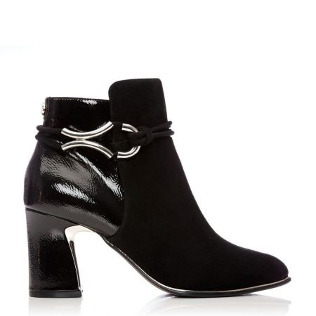 Heeled And Wedge Boots | Moda in Pelle Womens Lorile Black Suede Black