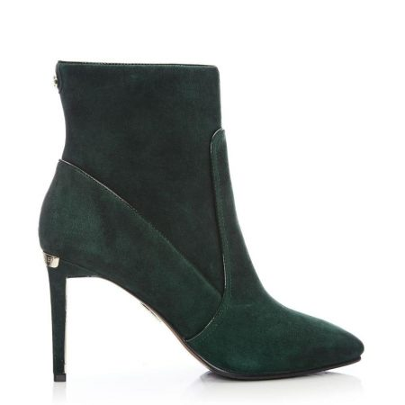 Heeled And Wedge Boots | Moda in Pelle Womens Nyah Green Suede Green