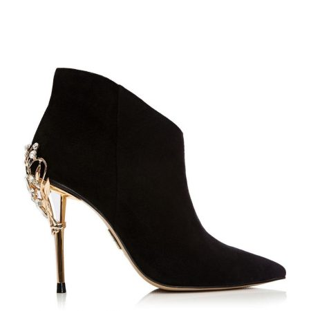 Heeled And Wedge Boots | Moda in Pelle Womens Zellina Black Suede Black
