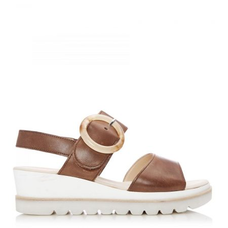 Heeled Sandals | Moda in Pelle Womens G Yeo Tan Leather Yeo