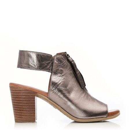 Heeled Sandals | Moda in Pelle Womens Lorrino Pewter Leather Pewter