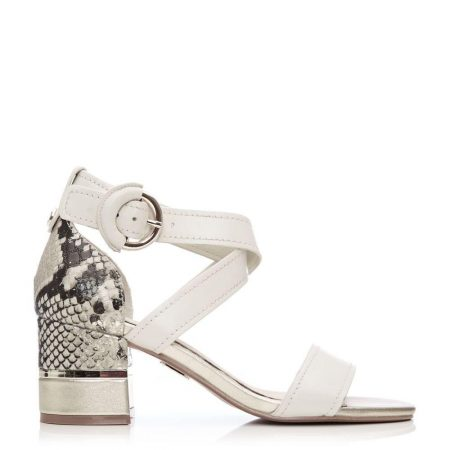 Heeled Sandals | Moda in Pelle Womens Lovelle Off White Leather Off