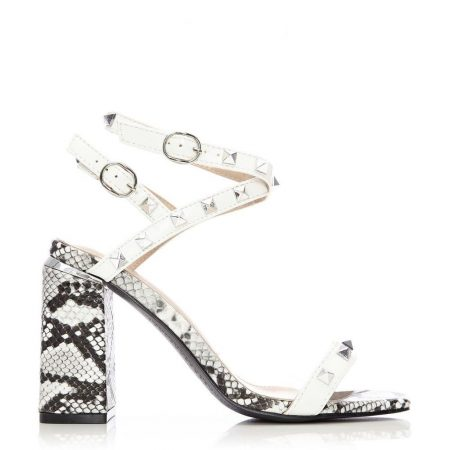 Heeled Sandals | Moda in Pelle Womens Luddy White Porvair White