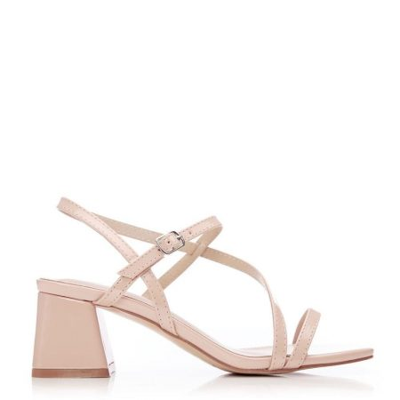 Heeled Sandals | Moda in Pelle Womens Moira Nude Patent Nude