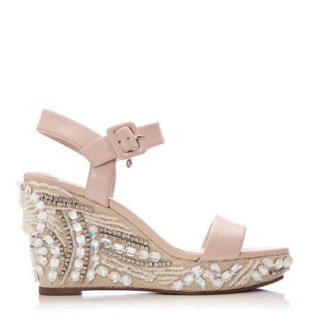 Heeled Sandals | Moda in Pelle Womens Mojitto Nude Leather Nude