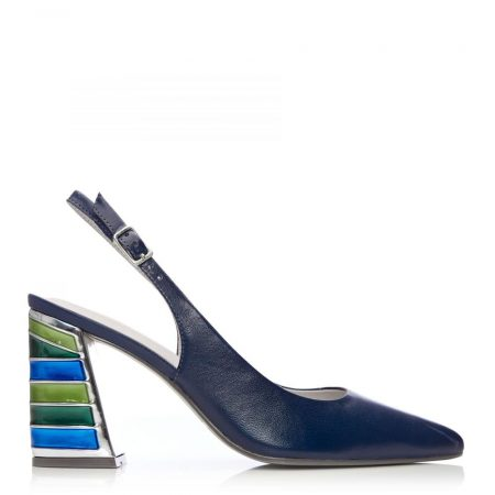 High Heel Shoes | Moda in Pelle Womens Dinella Navy Leather Navy