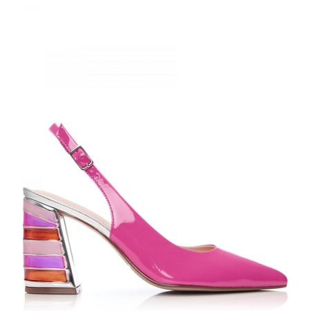 High Heel Shoes | Moda in Pelle Womens Dinella Pink Patent Leather Pink