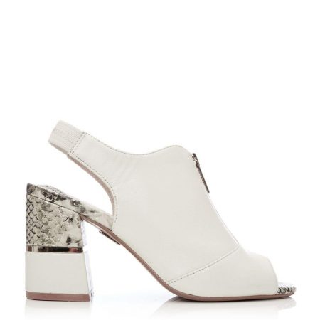 High Heel Shoes | Moda in Pelle Womens Loelia Off White Leather Off