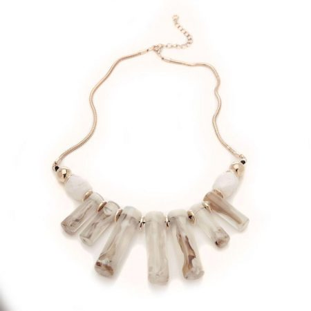 Jewellery | Moda in Pelle Womens Tubularnecklace Off White Beaded Off