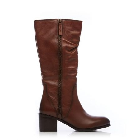 Knee High Boots | Moda in Pelle Womens Lilicia Tan Leather Tan