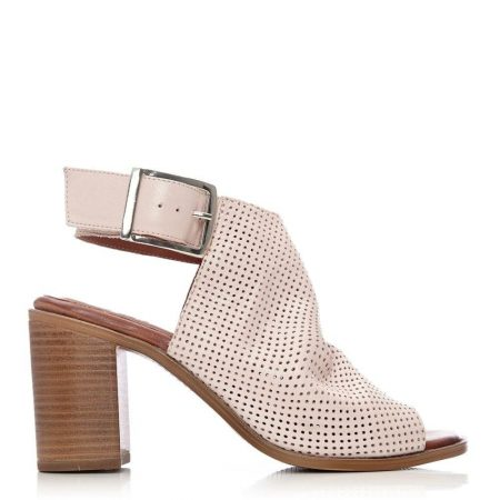Mid Heel Shoes   Moda in Pelle Womens Lilaine Nude Leather Nude