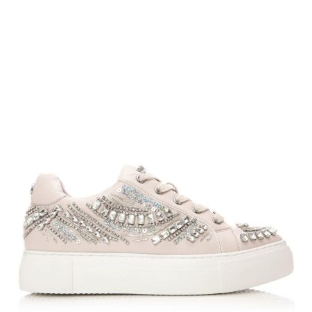 New Trainers | Moda in Pelle Womens Adazzle Nude Porvair Nude