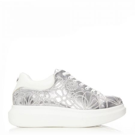 New Trainers | Moda in Pelle Womens Areetha Silver Porvair Silver