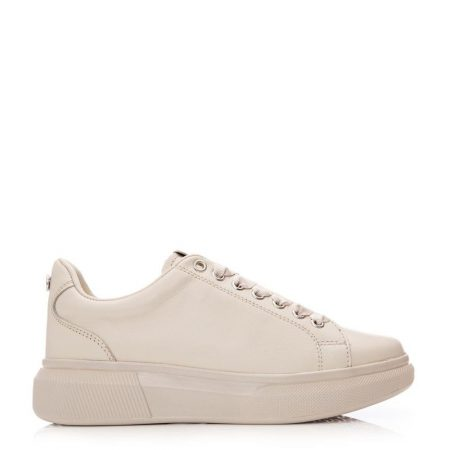 New Trainers | Moda in Pelle Womens Aritt Taupe Leather Taupe