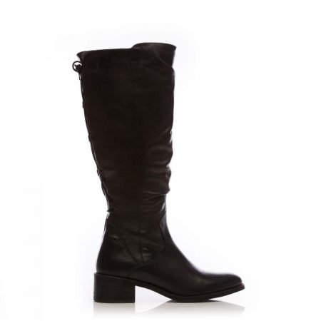 Riding And Flat Boots   Moda in Pelle Womens Lucura Black Leather Black