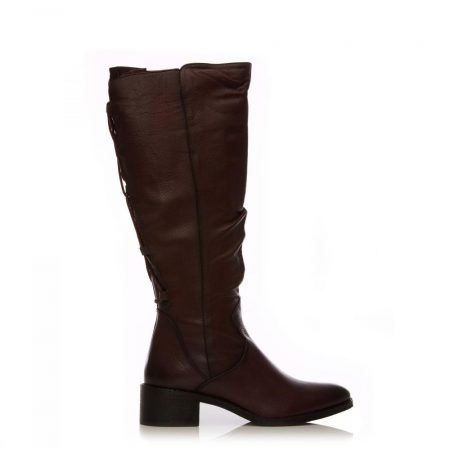 Riding And Flat Boots | Moda in Pelle Womens Lucura Burgundy Leather Burgundy