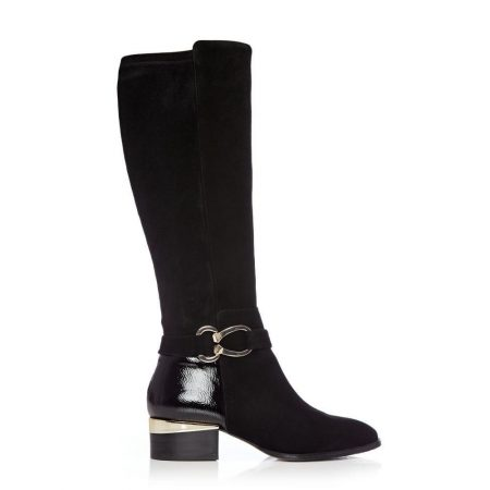 Riding And Flat Boots   Moda in Pelle Womens Tatyanna Black Suede Black
