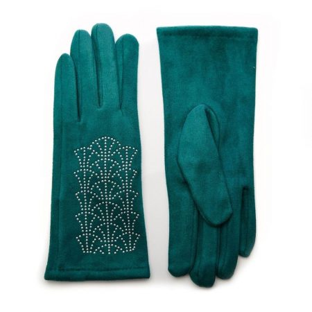 Scarves | Moda in Pelle Womens Arennaglove Green Fabric Green