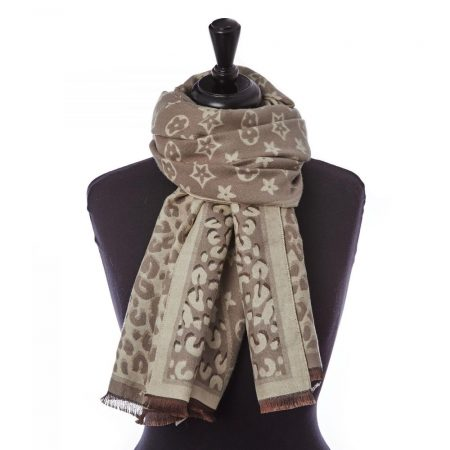 Scarves | Moda in Pelle Womens Cecily Scarf Stone Polyester Scarf