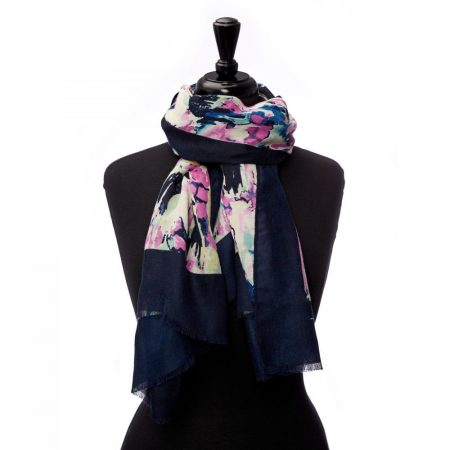 Scarves | Moda in Pelle Womens Exiescarf Water Colour Polyester Water