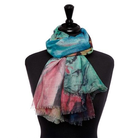 Scarves | Moda in Pelle Womens Mip Scarf Multicoloured Fabric Scarf